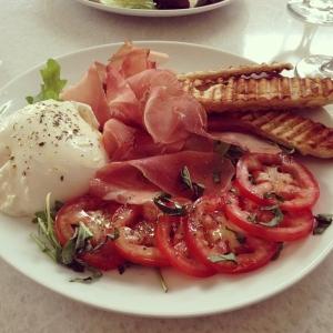 Burrata Speck & Tomato - Capriccio Cafe Stamford, CT