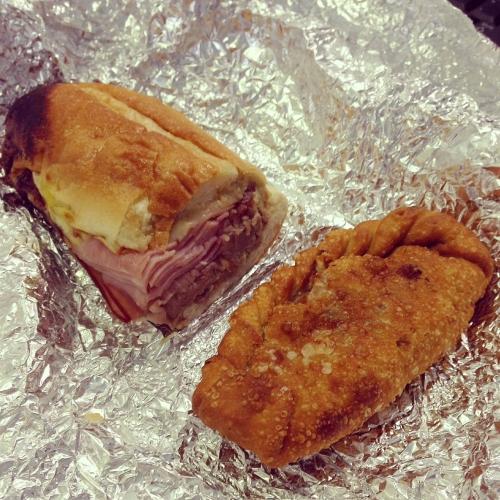 Valencia's Cuban Sandwich & Cheeseburger Empanada